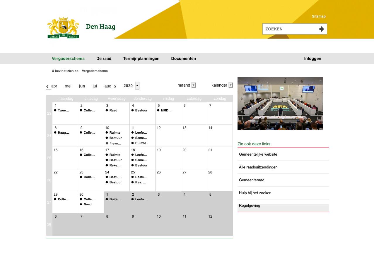 Raadsinformatiesysteem Gemeente Den Haag
